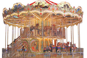 Double deck carousel with 48 seat for sale